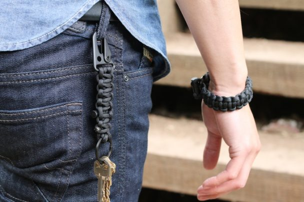 Bomber+Parcord+Bracelet+and+Keychain