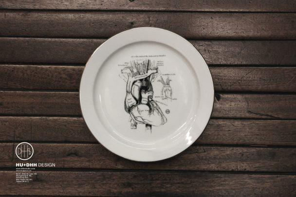 DHHs人體器官小瓷盤