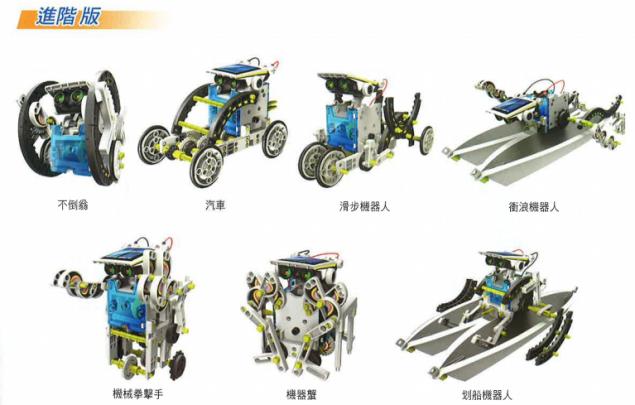 ProsKit《14合1太陽能變形機器人》