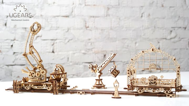 Ugears Rail Manipulator Mechanical Town Series (5)