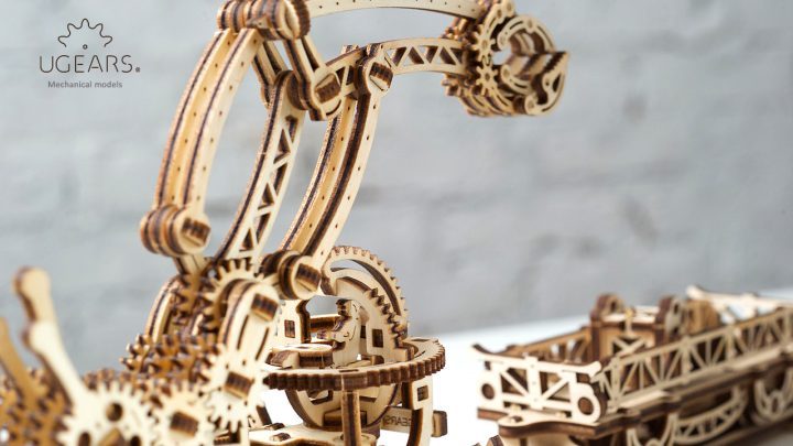 Ugears Rail Manipulator Mechanical Town Series (7)