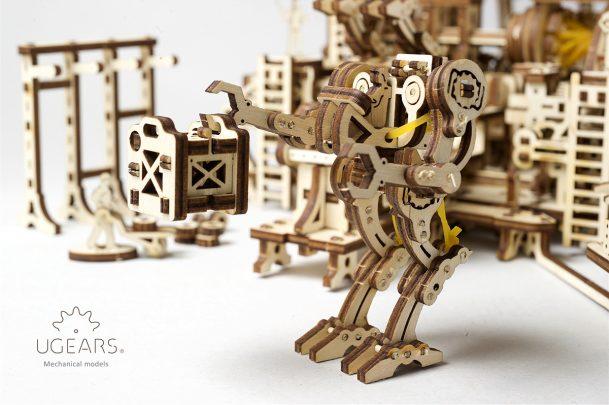 Ugears Robot Factory Mechanical Town Series 10