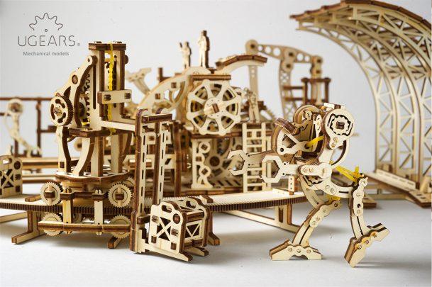 Ugears Robot Factory Mechanical Town Series 4