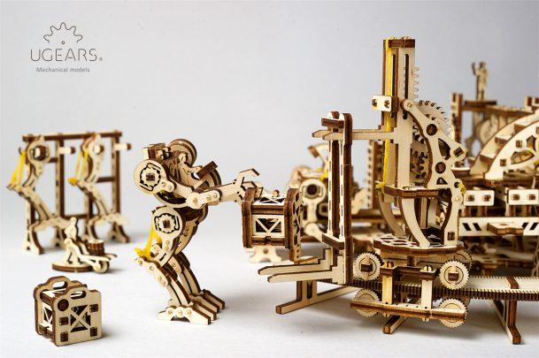 Ugears Robot Factory Mechanical Town Series 7