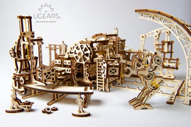 Ugears Robot Factory Mechanical Town Series 9
