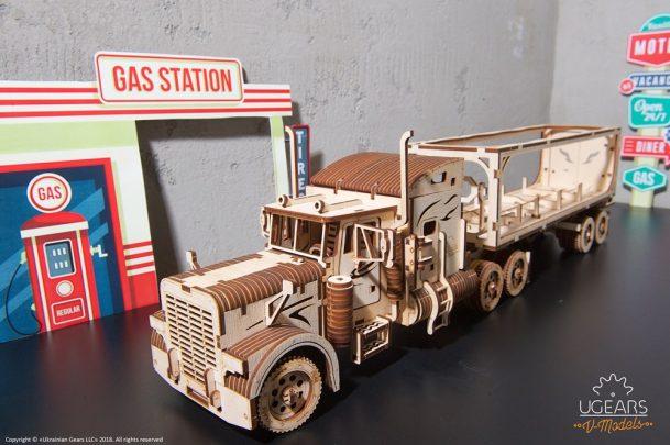 Ugears Heavy Boy Truck VM-03 Trailer model kit