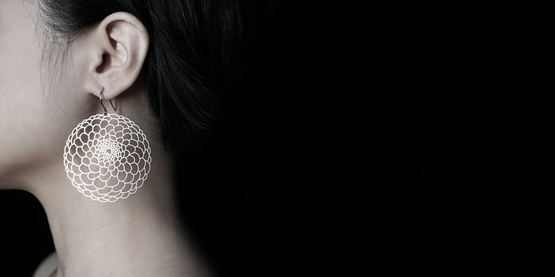 大理花耳環