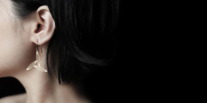 淡竹三葉耳環