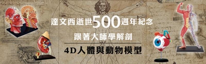 達文西500周年4D模型
