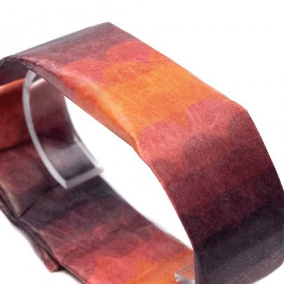 紙手錶 細手錶 迷幻紅-2