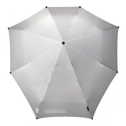 荷蘭 Senz 盛世 自動摺疊防風傘 -耀銀灰01