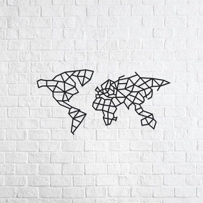 EWA 實木壁飾:世界地圖2