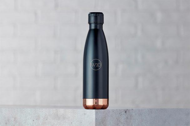 W10 Black Water Bottle - small