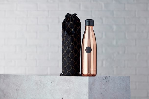 W10 Copper Water Bottle and Bag-small