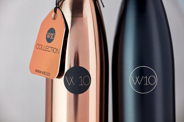 W10 Copper and Black Water Bottles - small