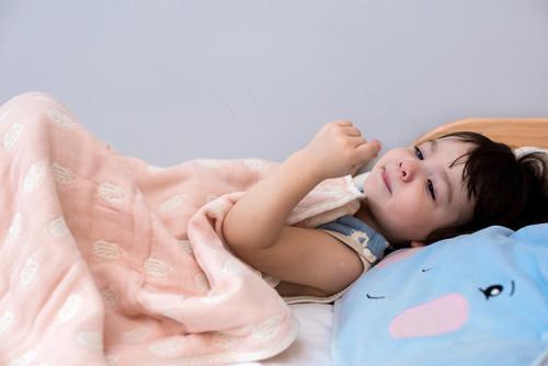 YIMONO 六層紗呼吸被 L - 粉紅刺蝟_1